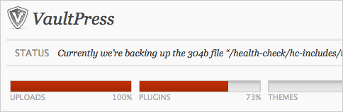Screenshot of the plugin page during the initial sync