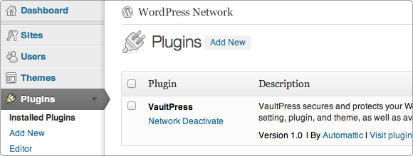 WordPress Network Plugins