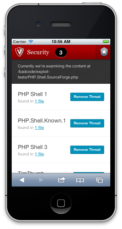 Check site security warnings and act on them accordingly.