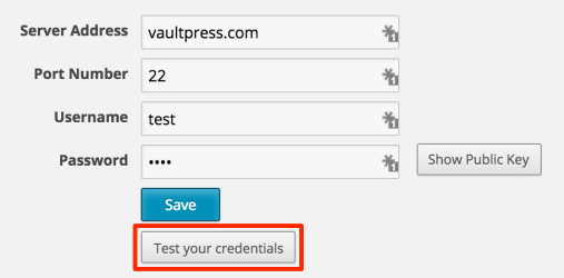 test your credentials