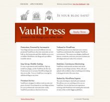 Homepage design from March 2010